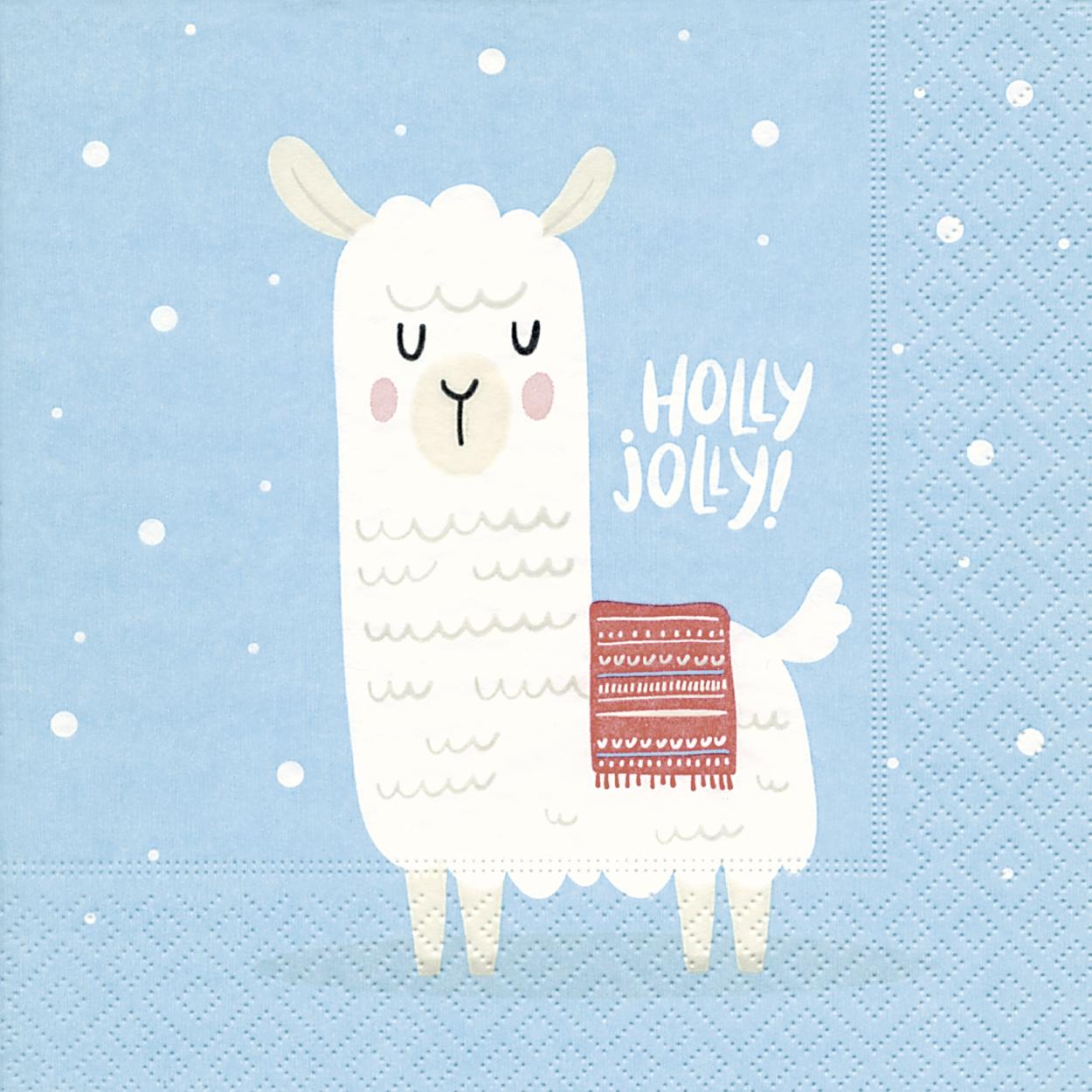 Napkins 33x33 cm - Holly jolly
