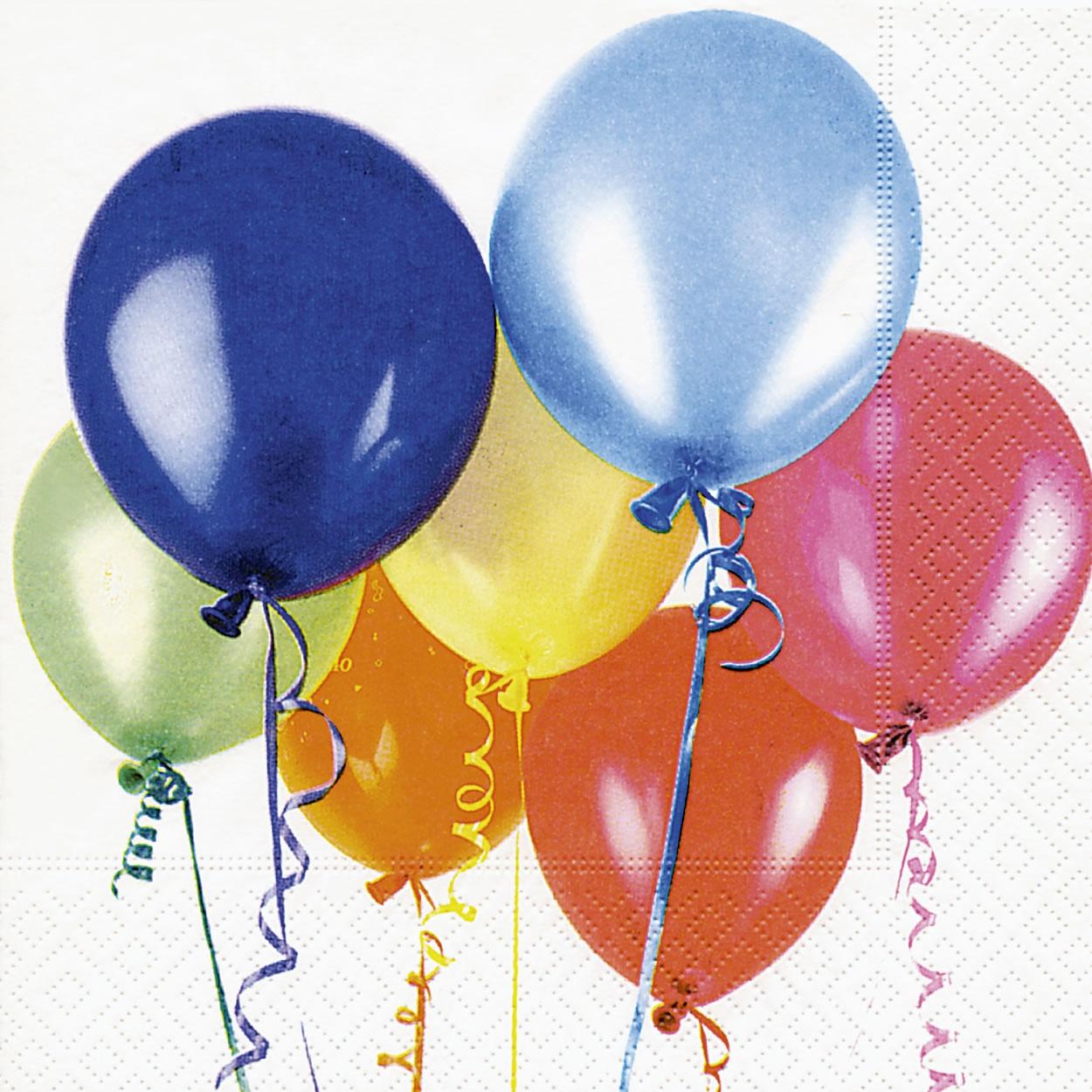 Servilletas 33x33 cm - Flying balloons