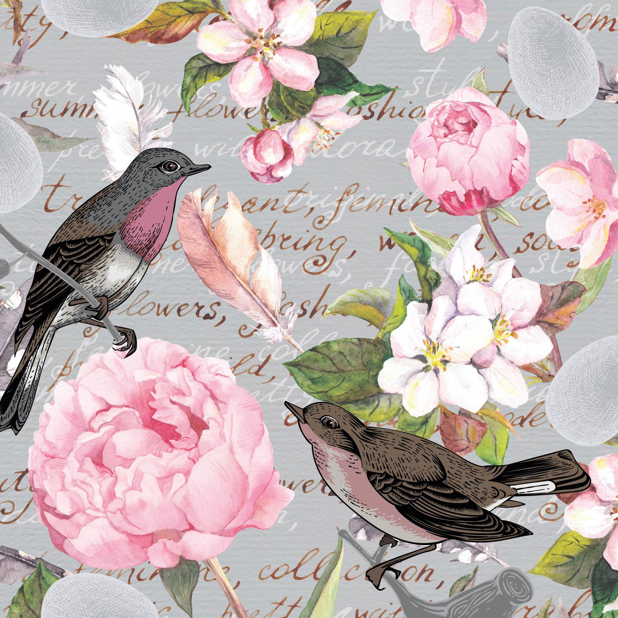Napkins 33x33 cm - Birds of a feather