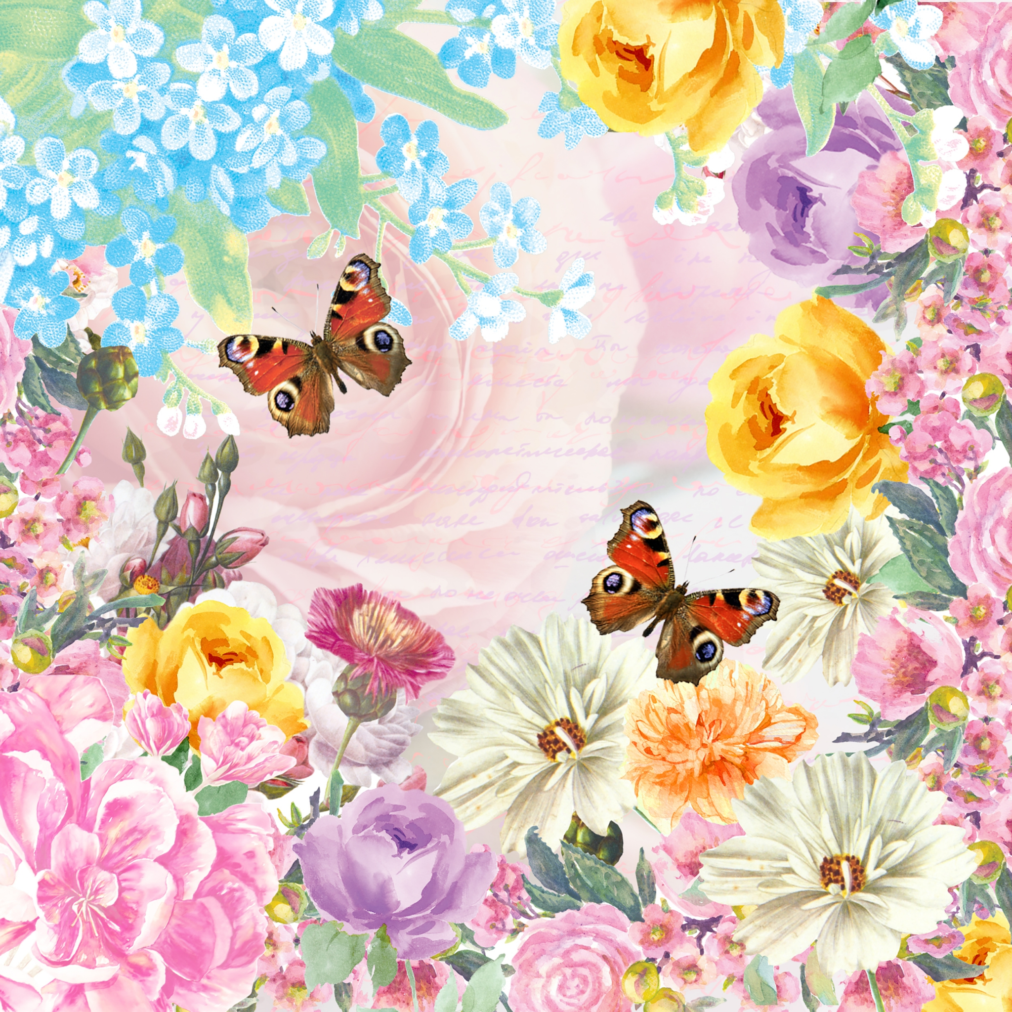 Napkins 24x24 cm - Butterfly charm