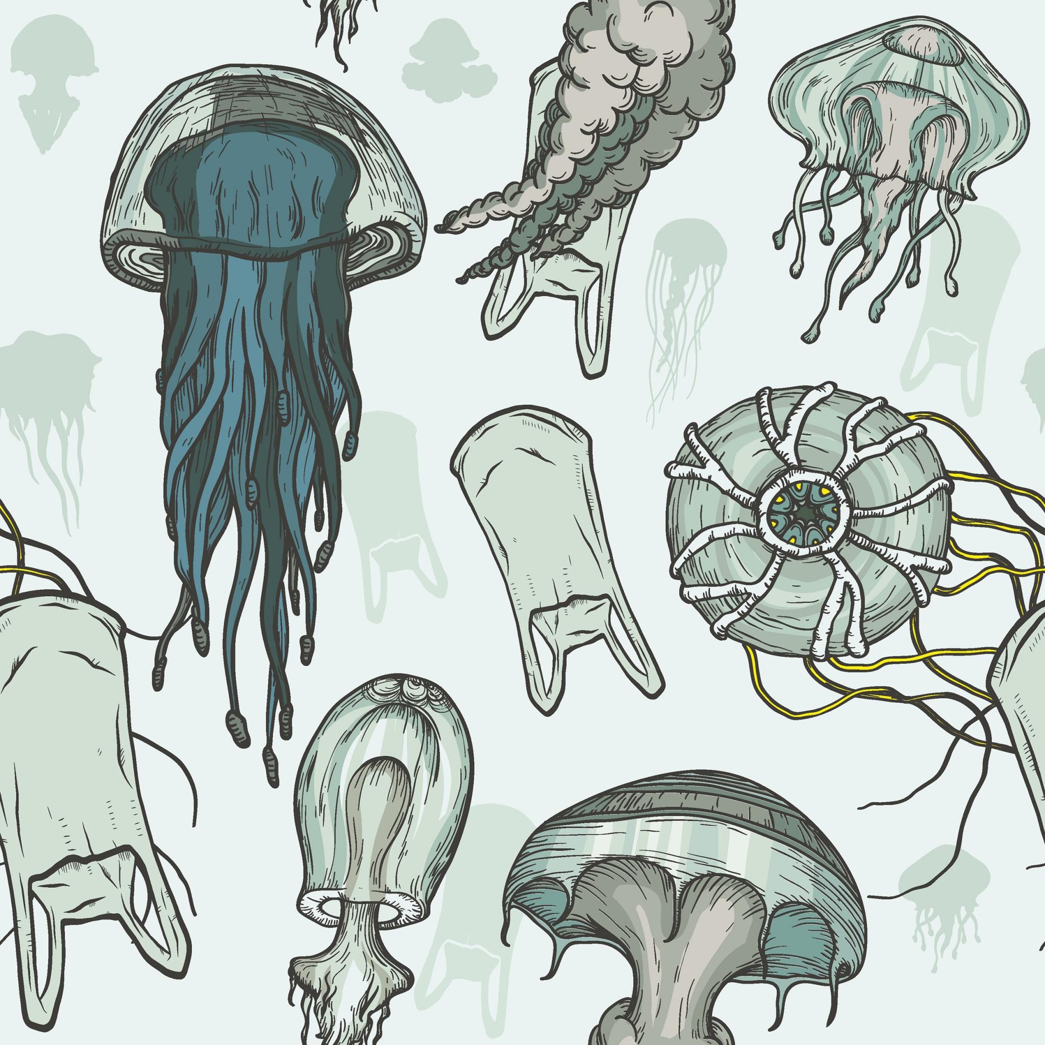 Napkins 33x33 cm - Jellyfishes