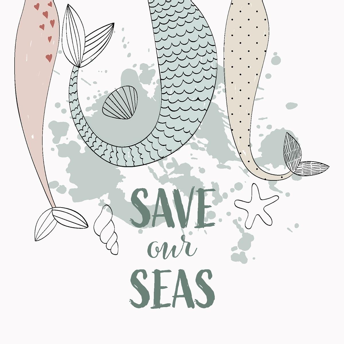 Napkins 33x33 cm - Save our Seas