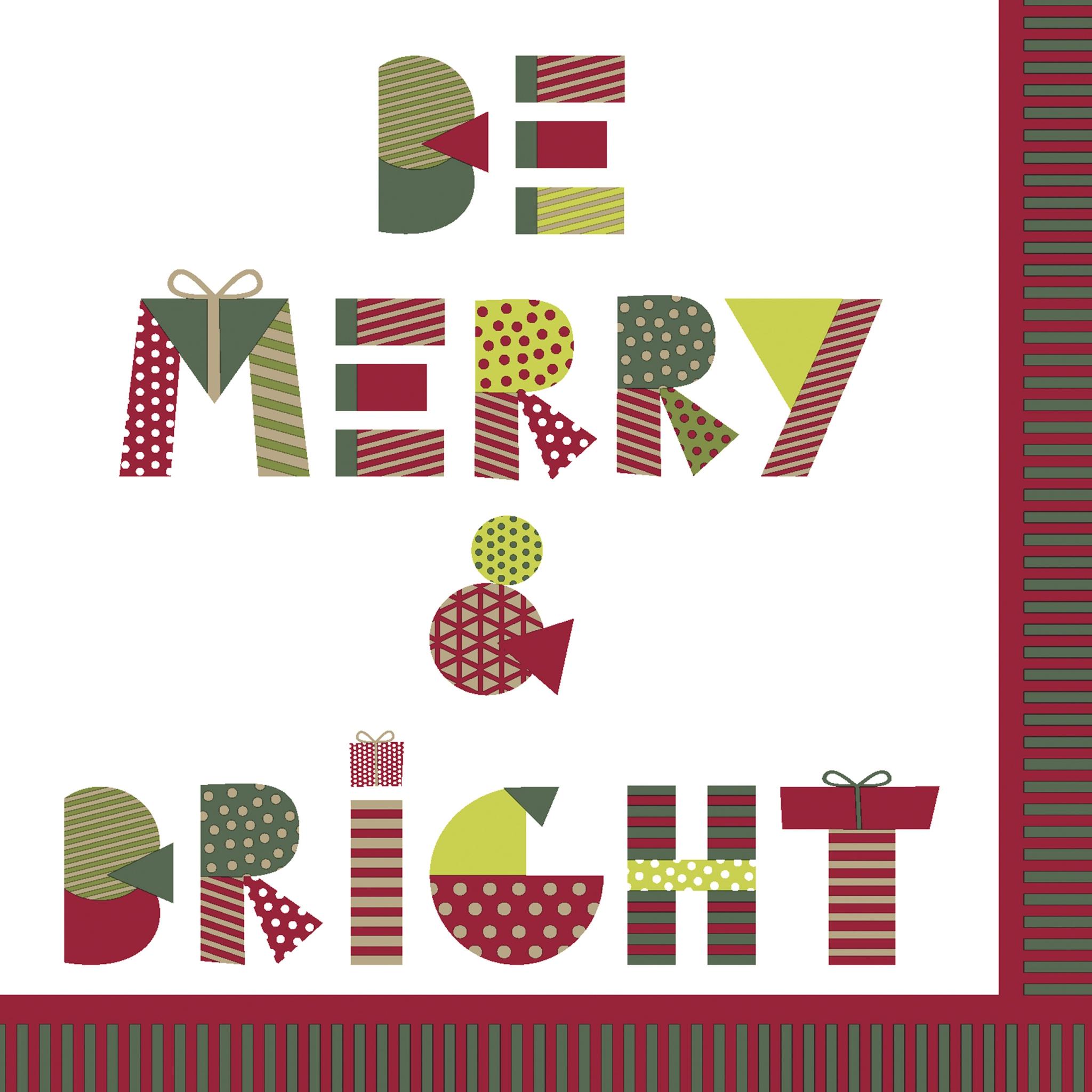 Napkins 33x33 cm - Be Merry