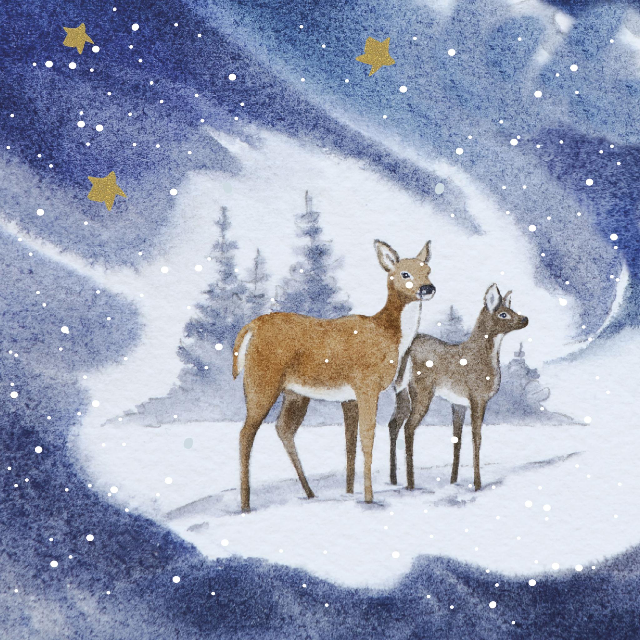 Servilletas 33x33 cm - Blue Deers