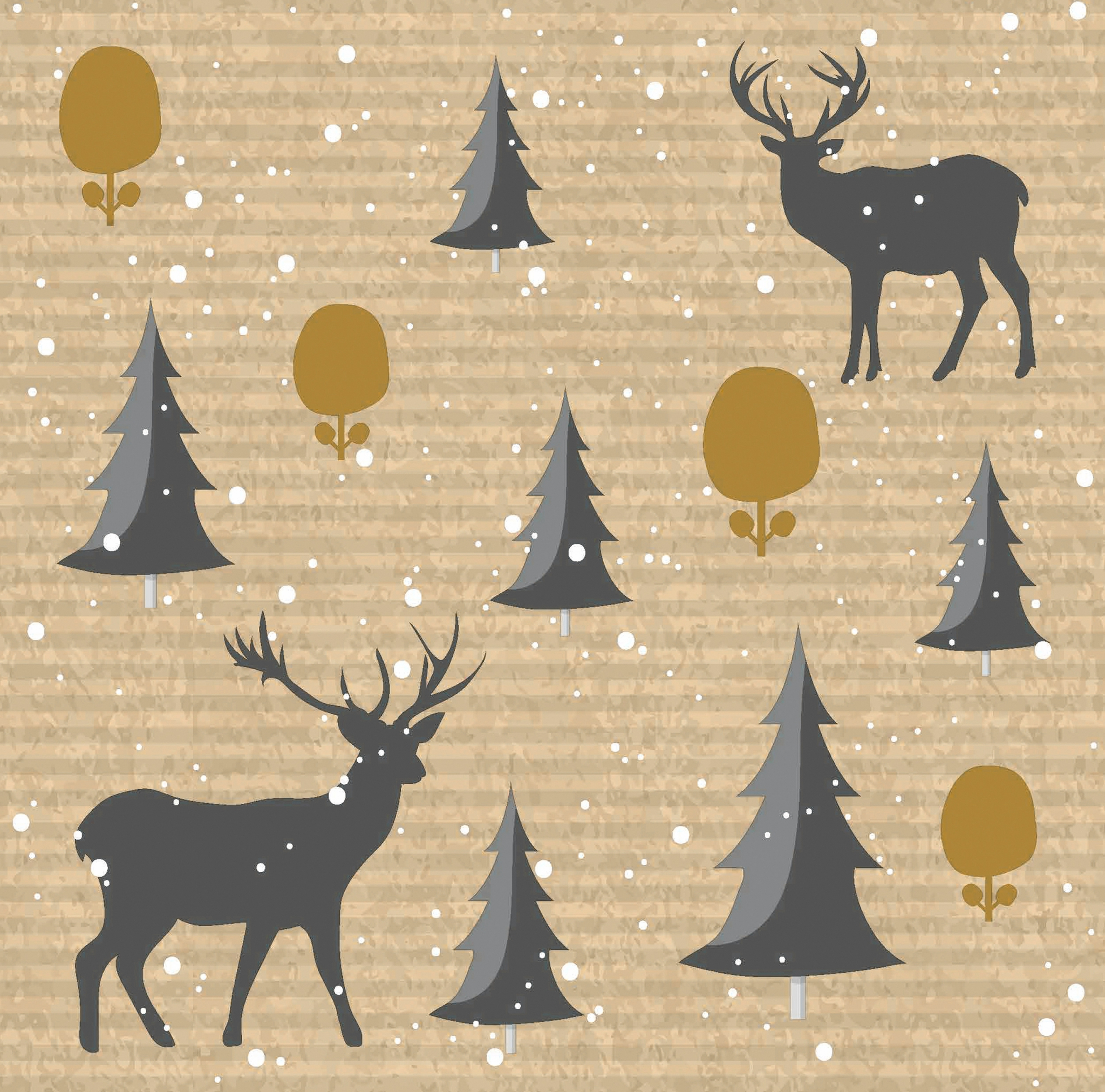 Servilletas 40x40 cm - Deer Forest