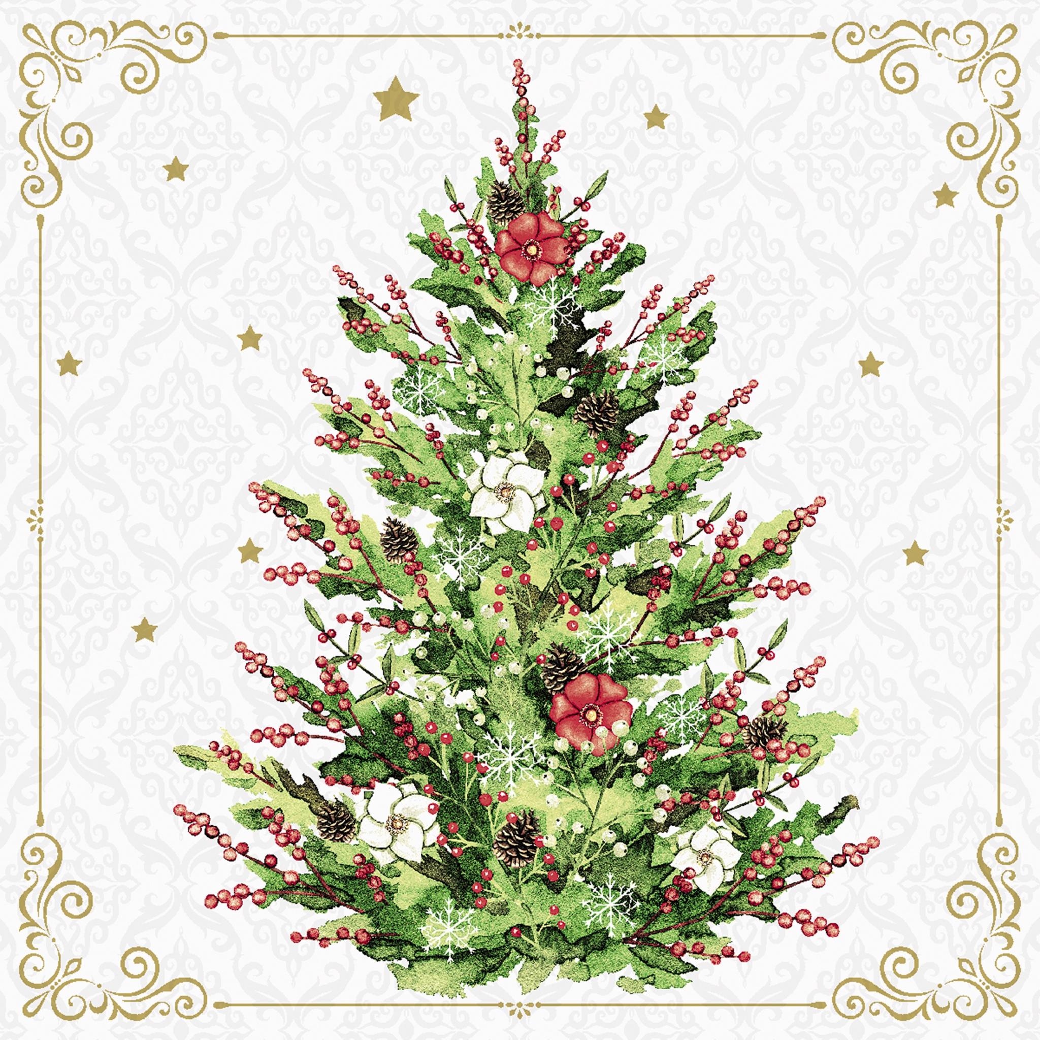 Servilletas 40x40 cm - Christmas Tree