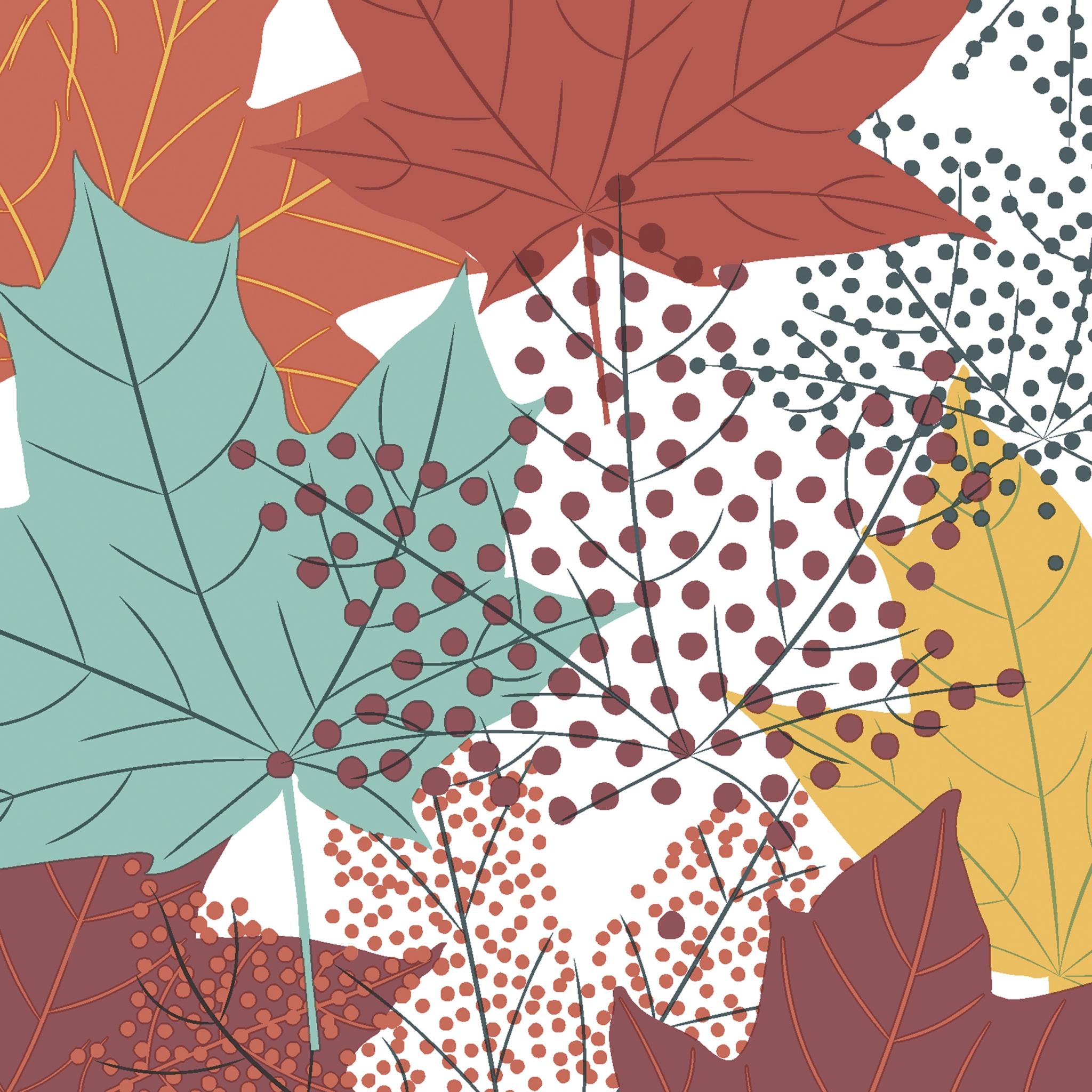 Napkins 33x33 cm - Modern Leaves