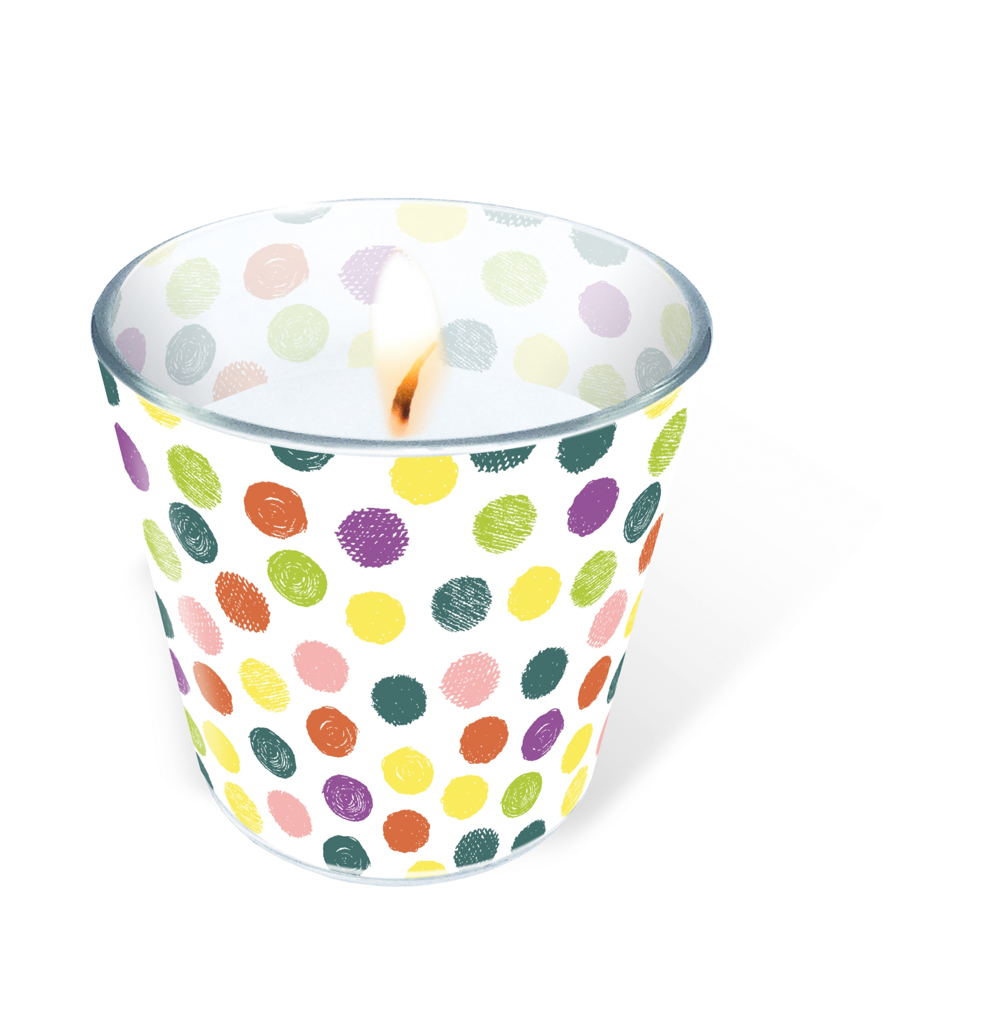glass candle - Playful Dots