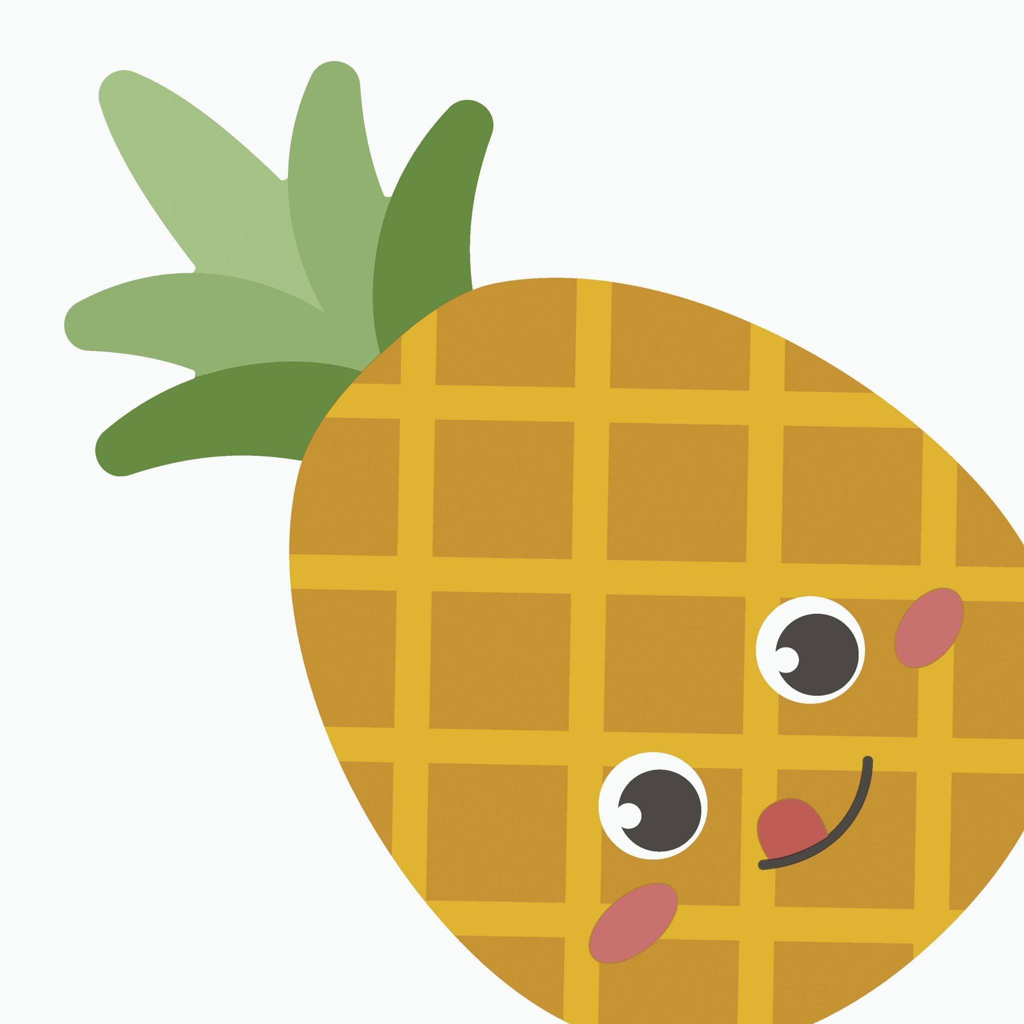 Servilletas troqueladas - Silhouettes Pineapple