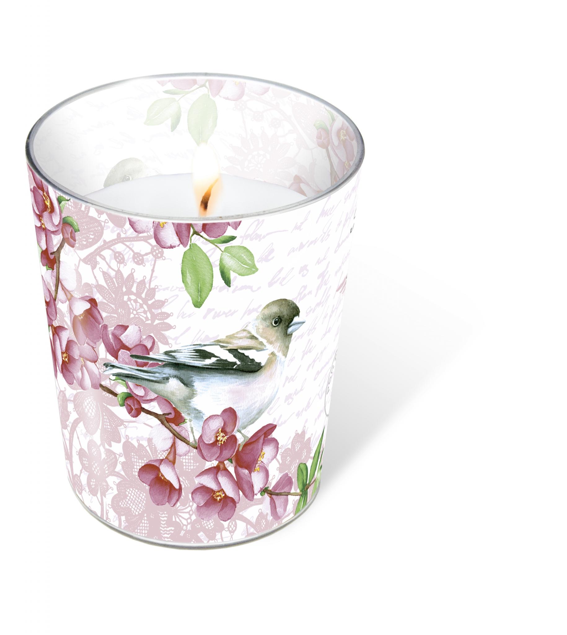 glass candle - Sweet bird