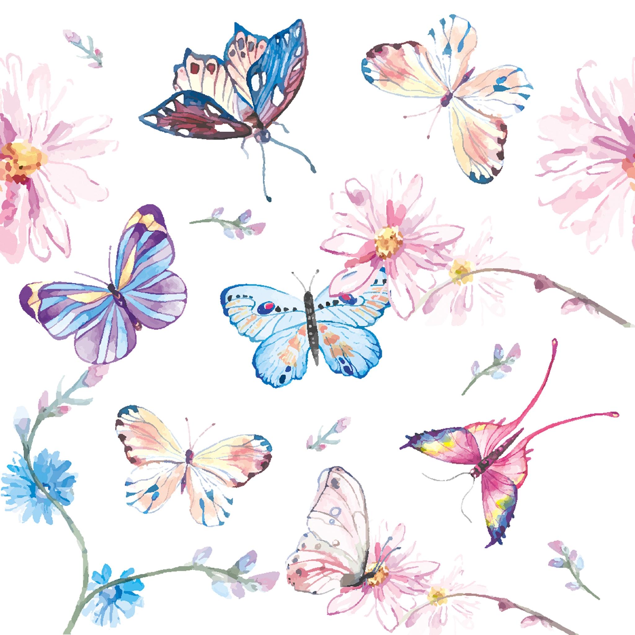 Servilletas 24x24 cm - Butterflies