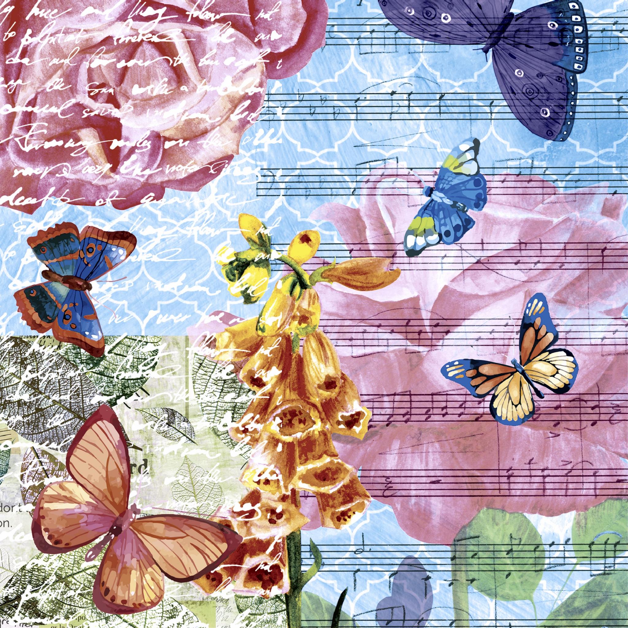 Servilletas 24x24 cm - Musical garden