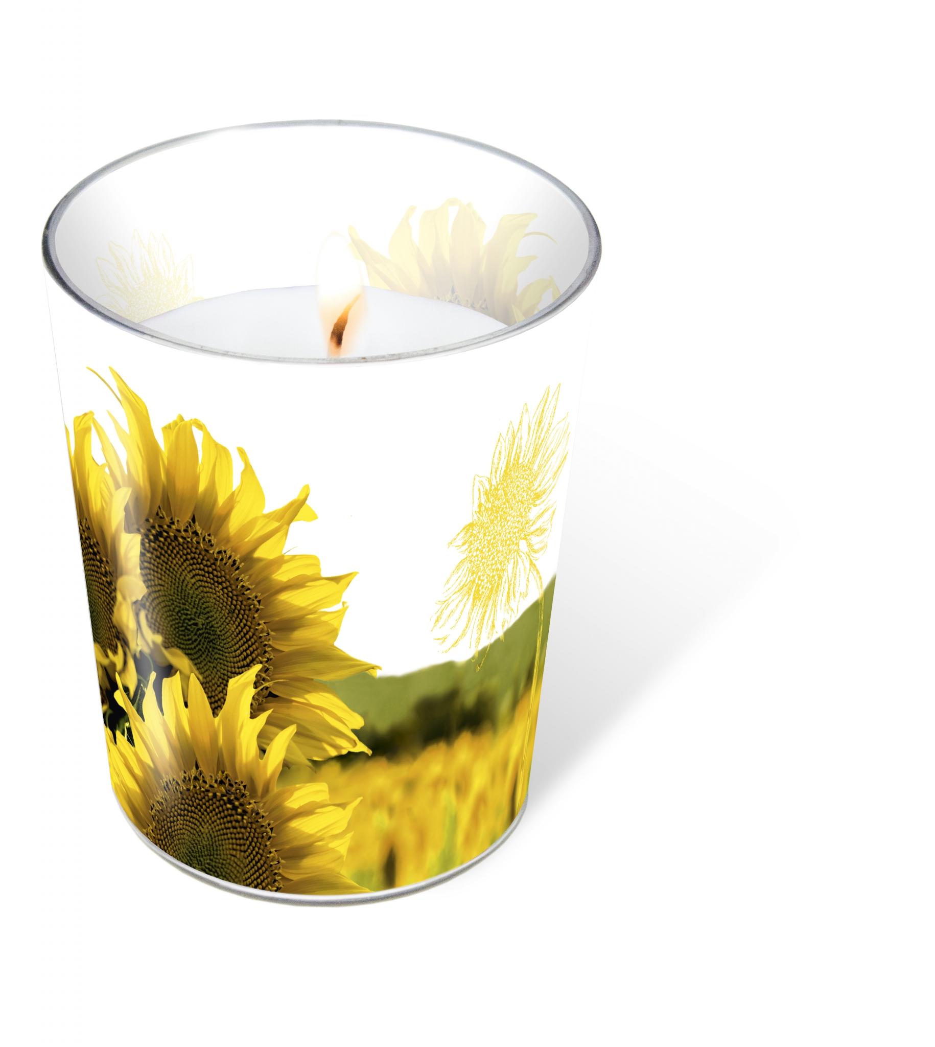 glass candle - Dusk Sunflower