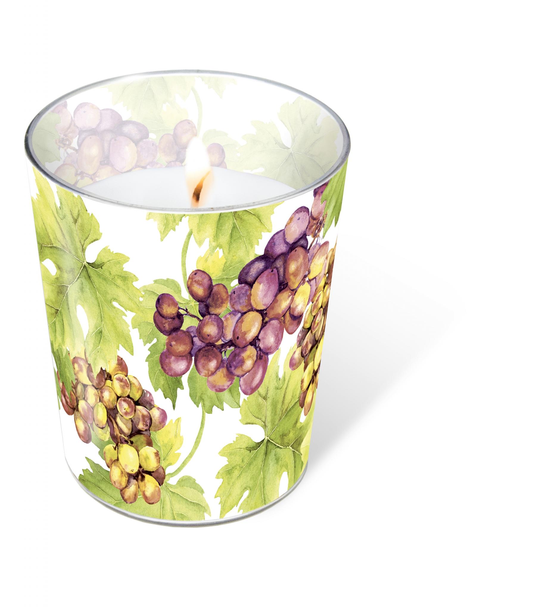 vela de vidrio - Grapes
