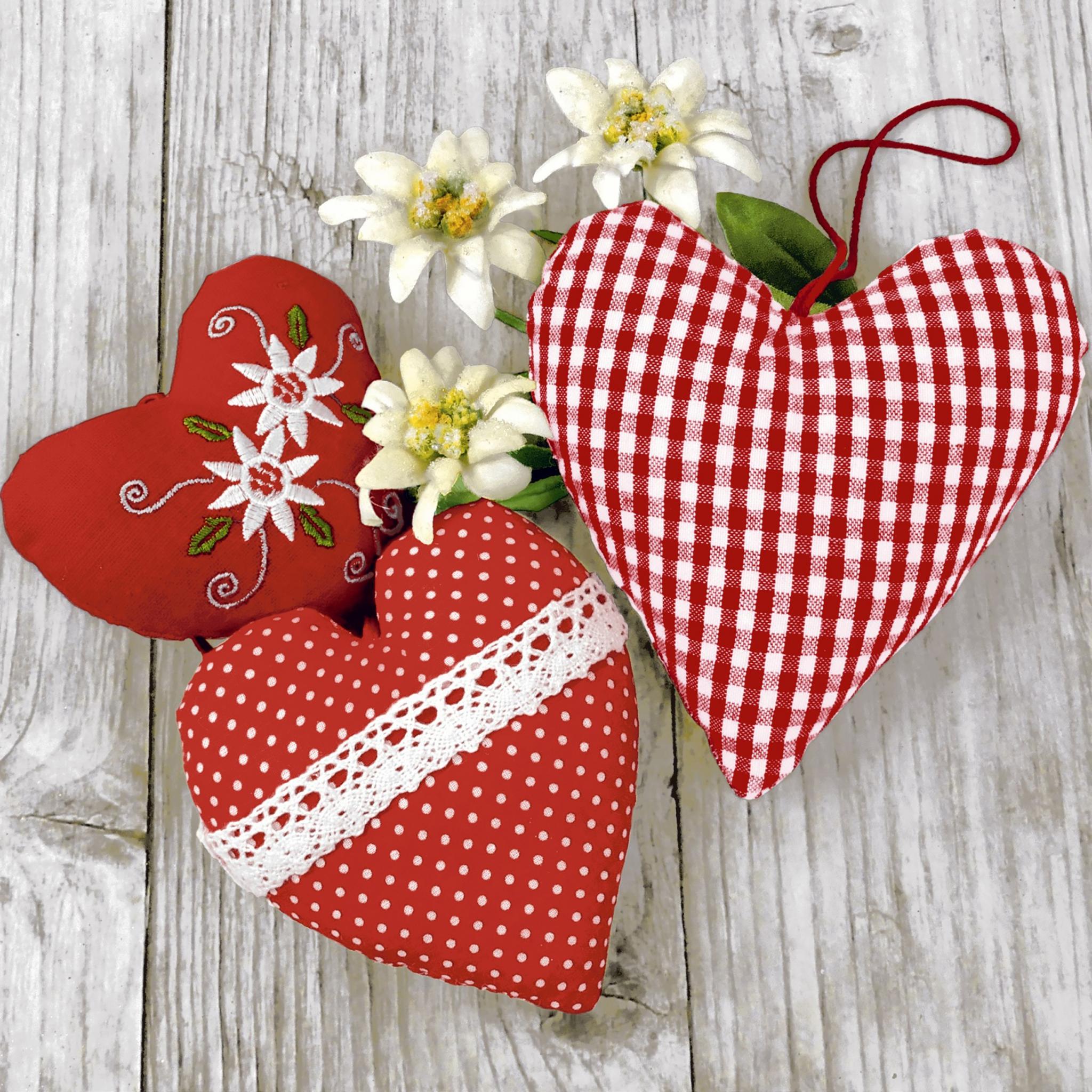 Servilletas 33x33 cm - Bavarian hearts