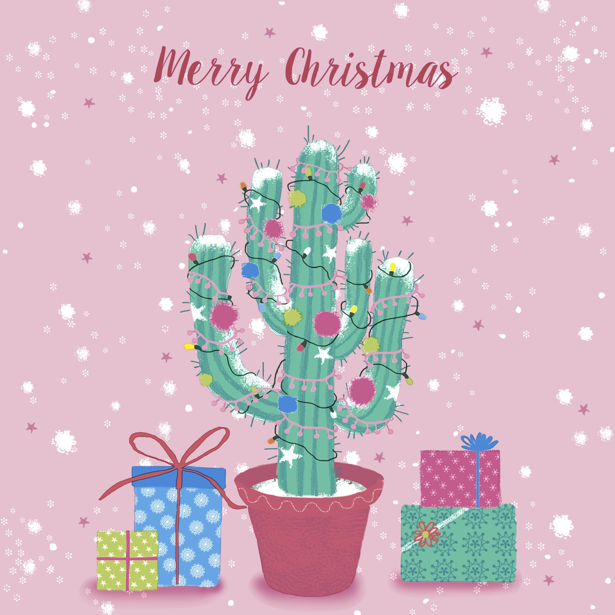 Servilletas 33x33 cm - Decorated cactus