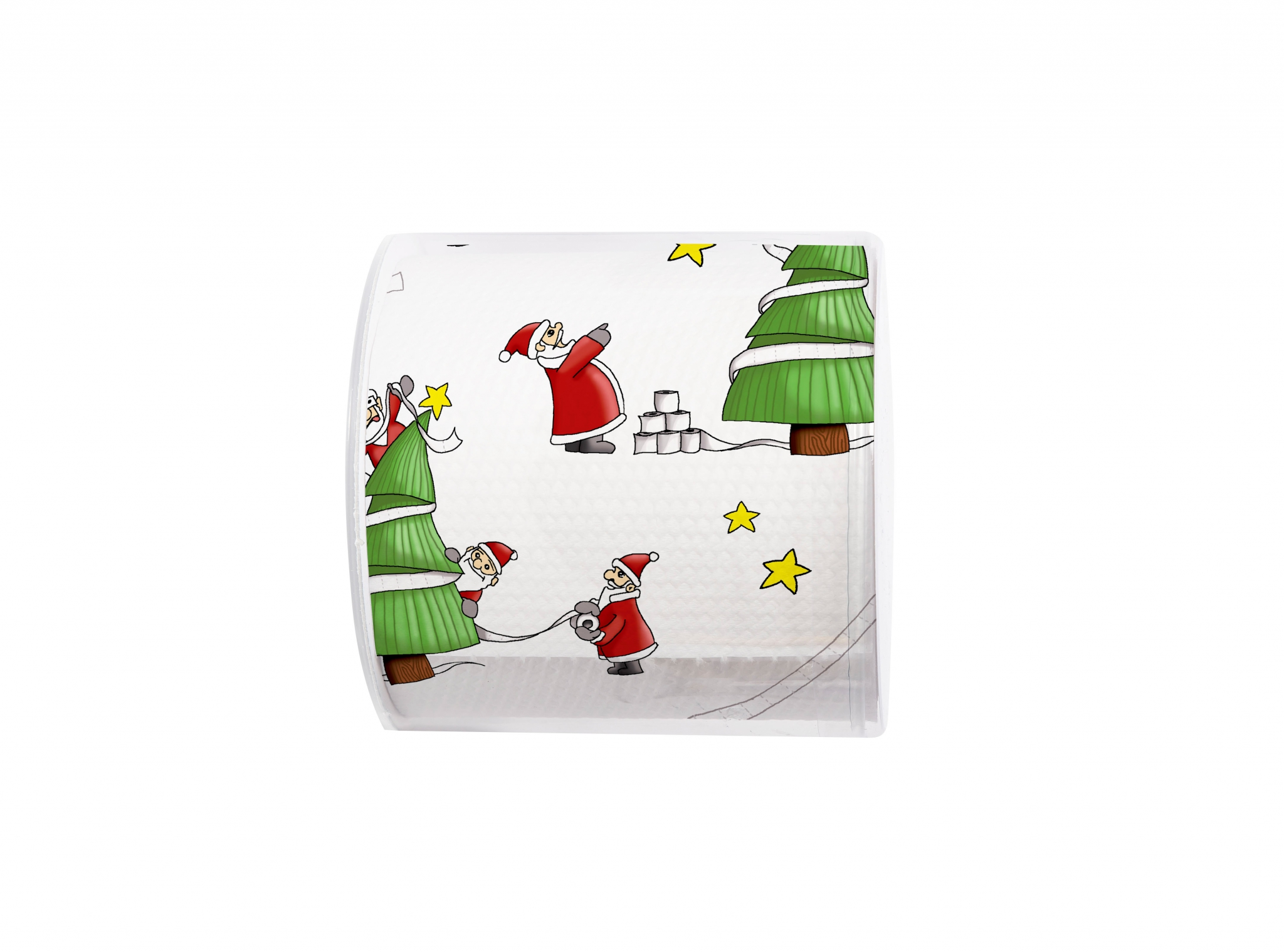 printed toilet paper - Topi Santas so busy