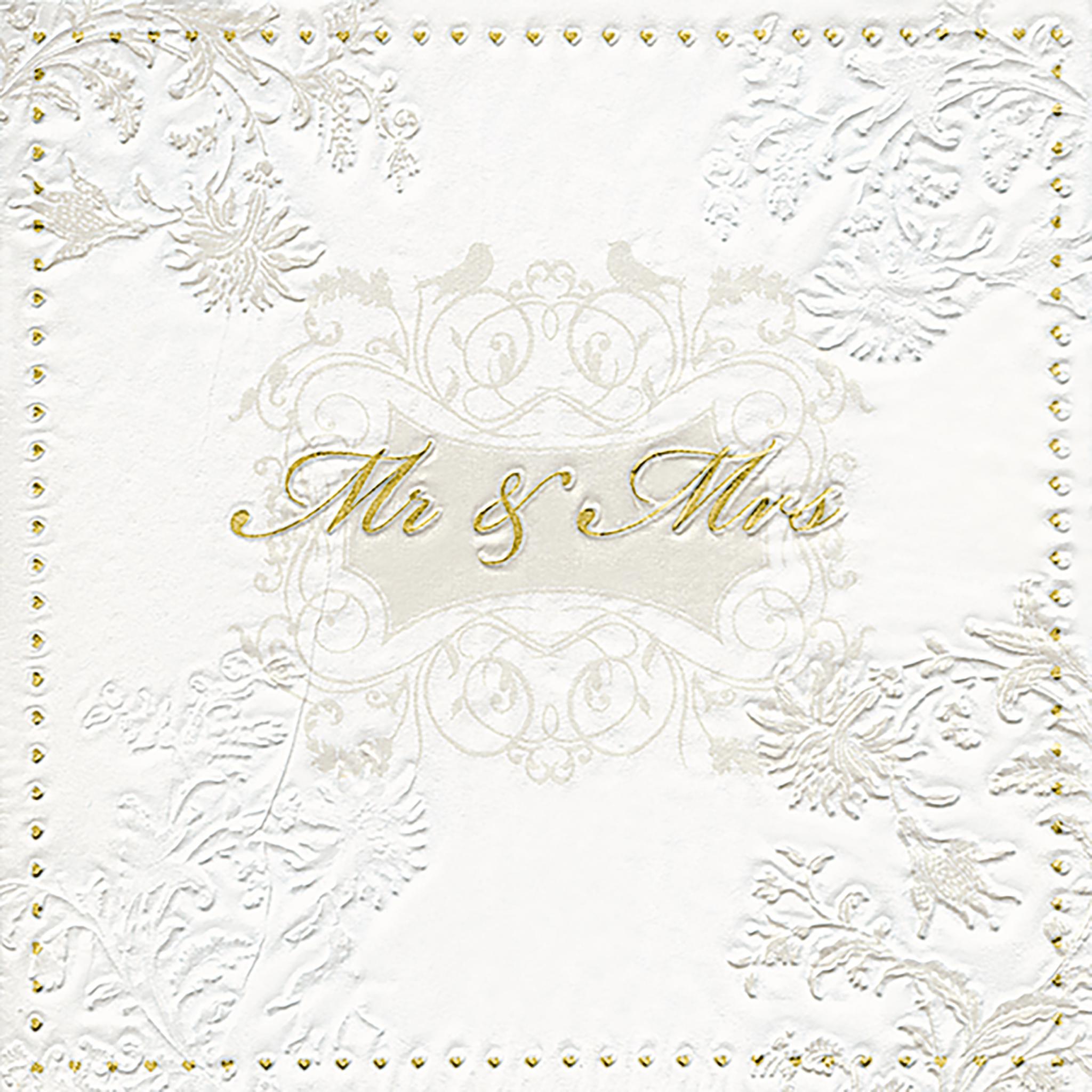 Servilletas 33x33 cm - Moments Mr. & Mrs. gold