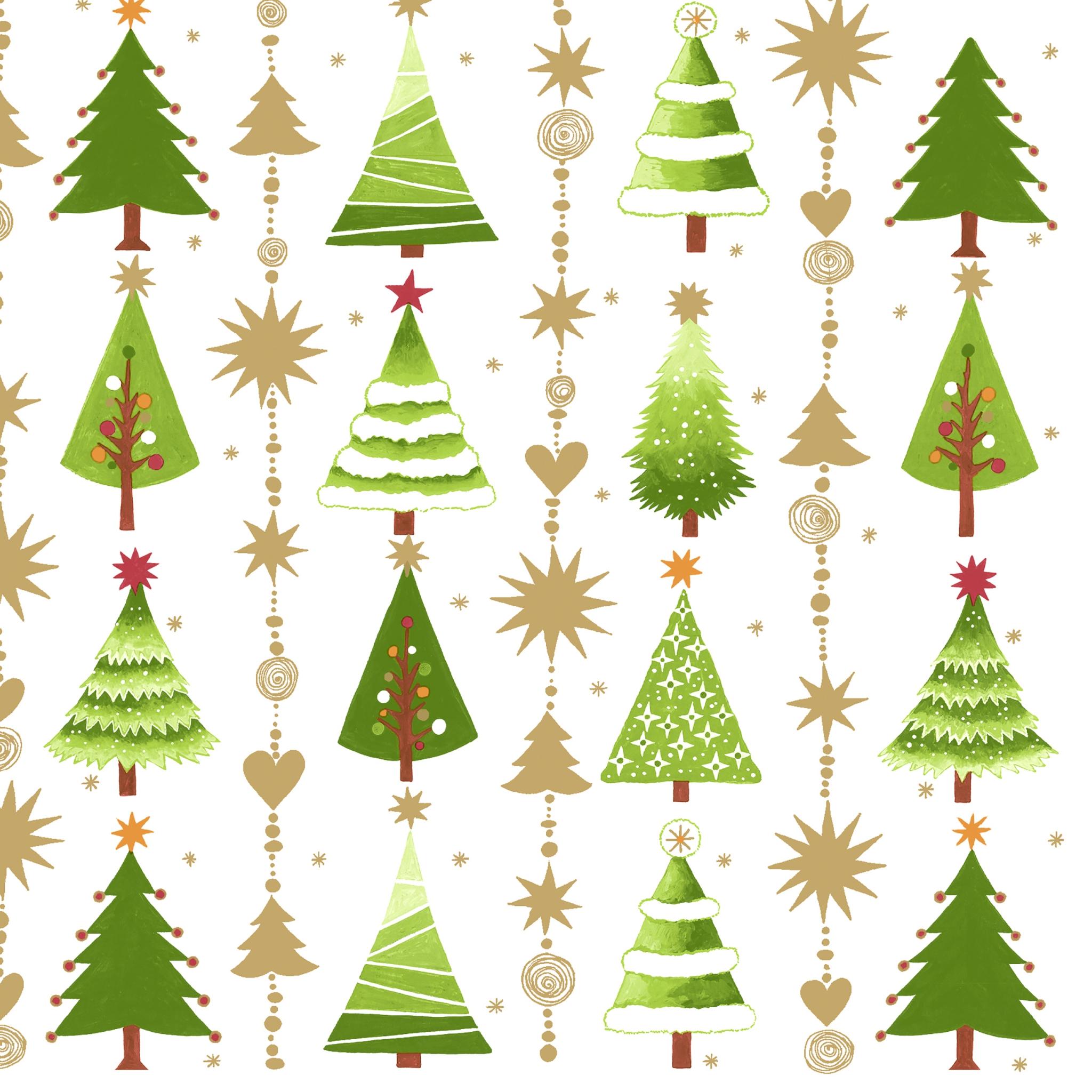 Napkins 33x33 cm - Fine little trees