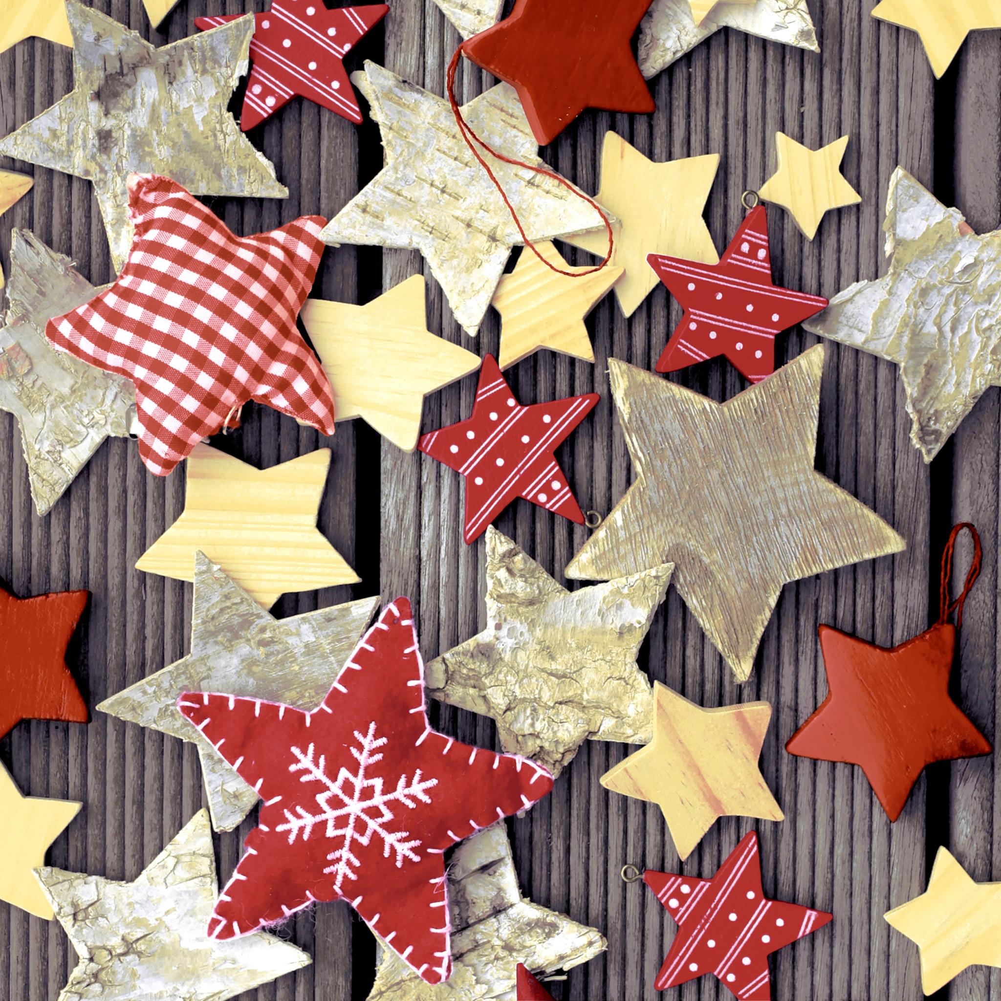 Napkins 33x33 cm - Handmade stars