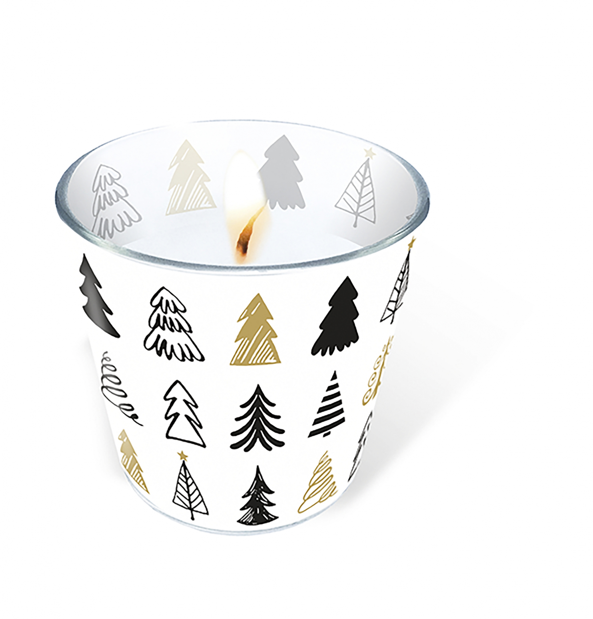 glass candle - Graphical trees