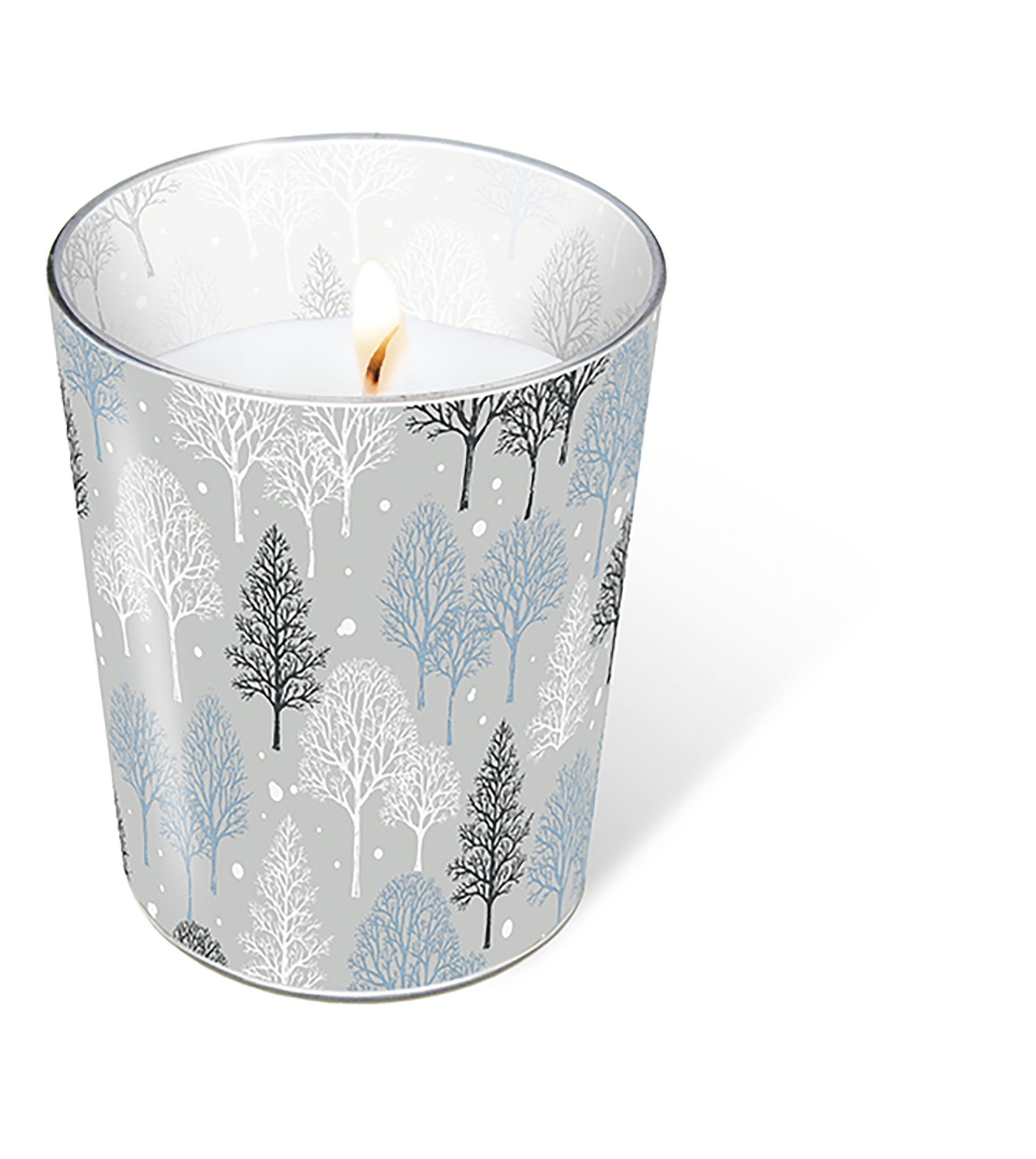 glass candle - Winter trees