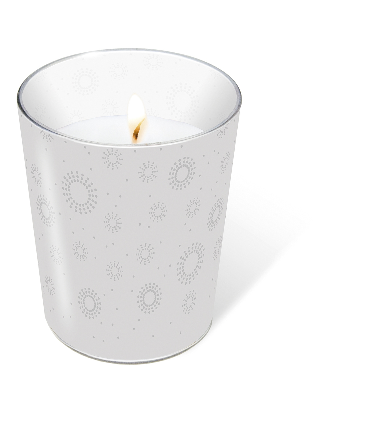 glass candle - Moments uni silver