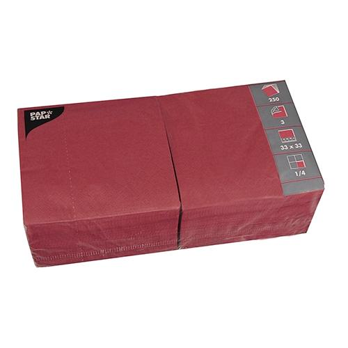 250 napkins 33x33 cm - bordeaux