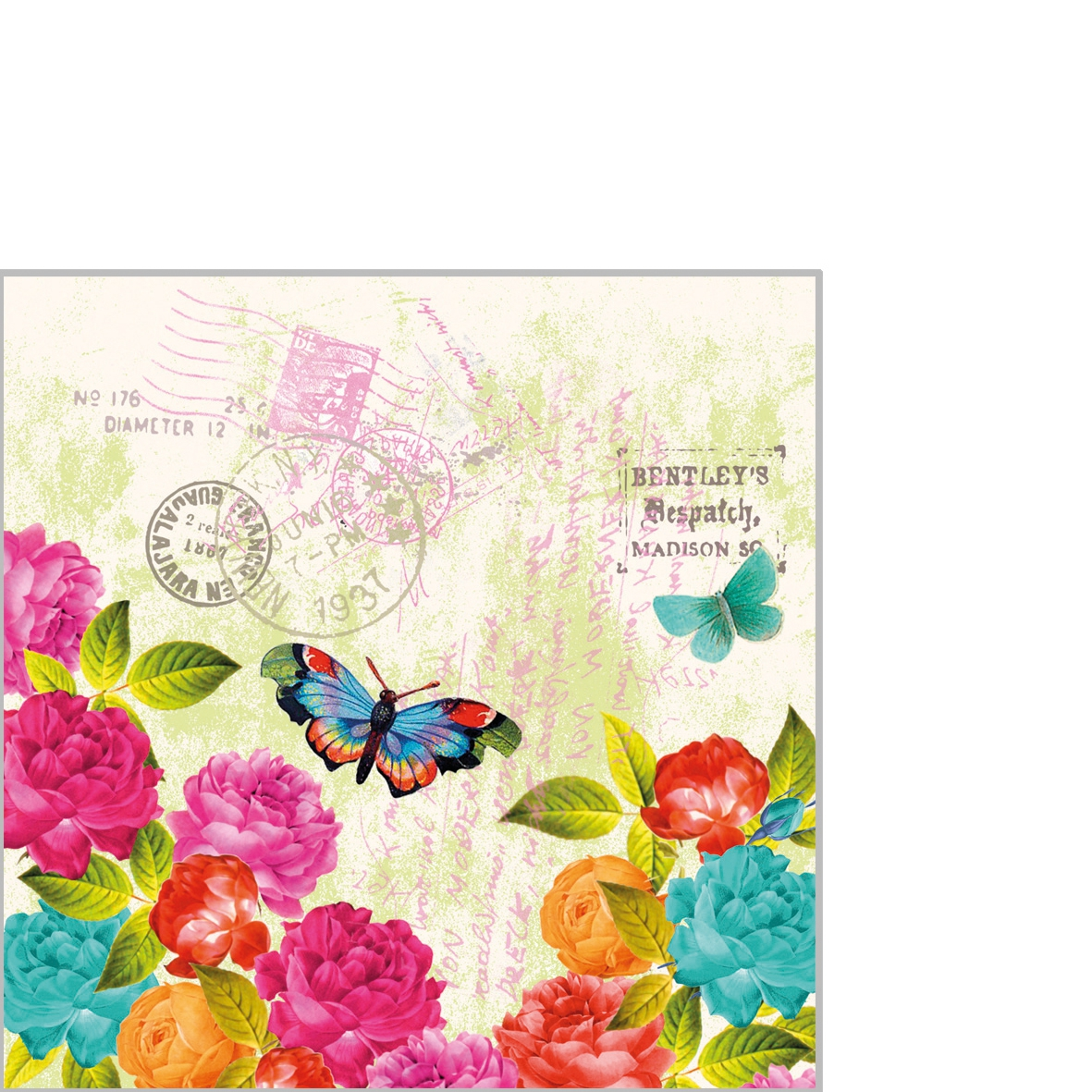 Serwetki 25x25 cm - Spring Letter 25x25cm