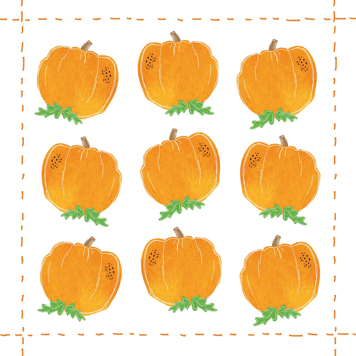 Napkins 25x25 cm - Fashion Pumpkin allover *