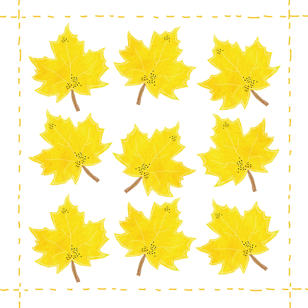 Napkins 25x25 cm - Fashion Leaf allover *