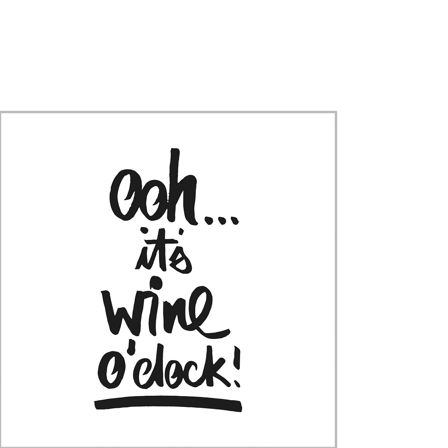 Napkins 25x25 cm - Wine o´clock