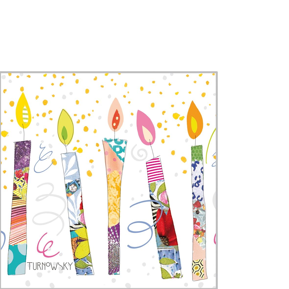 Servilletas 25x25 cm - Birthday Candles