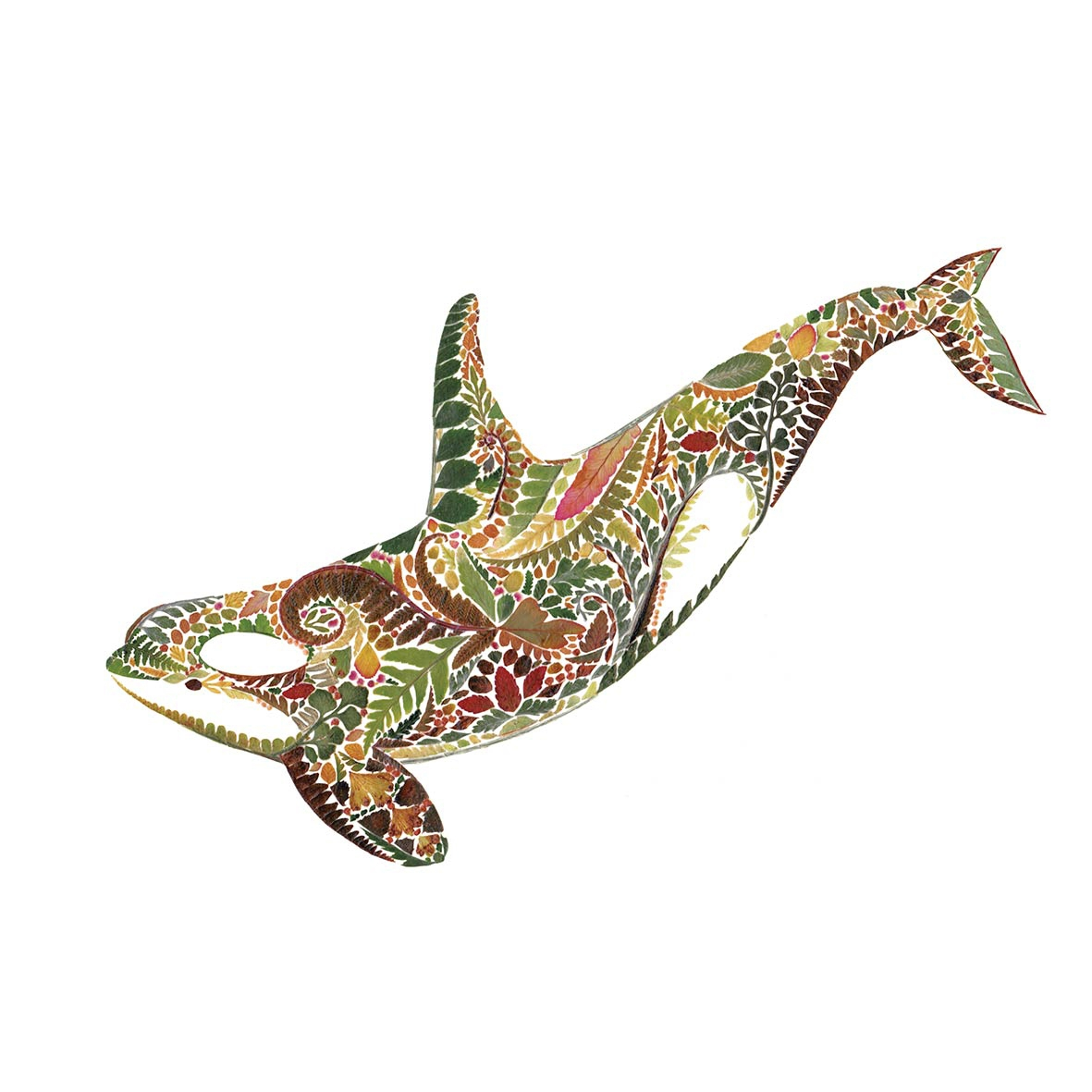Napkins 25x25 cm - Green Orca