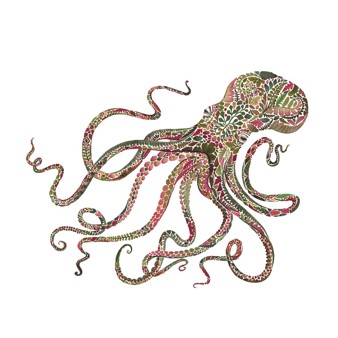 Serwetki 25x25 cm - Green Octopus 25x25 cm