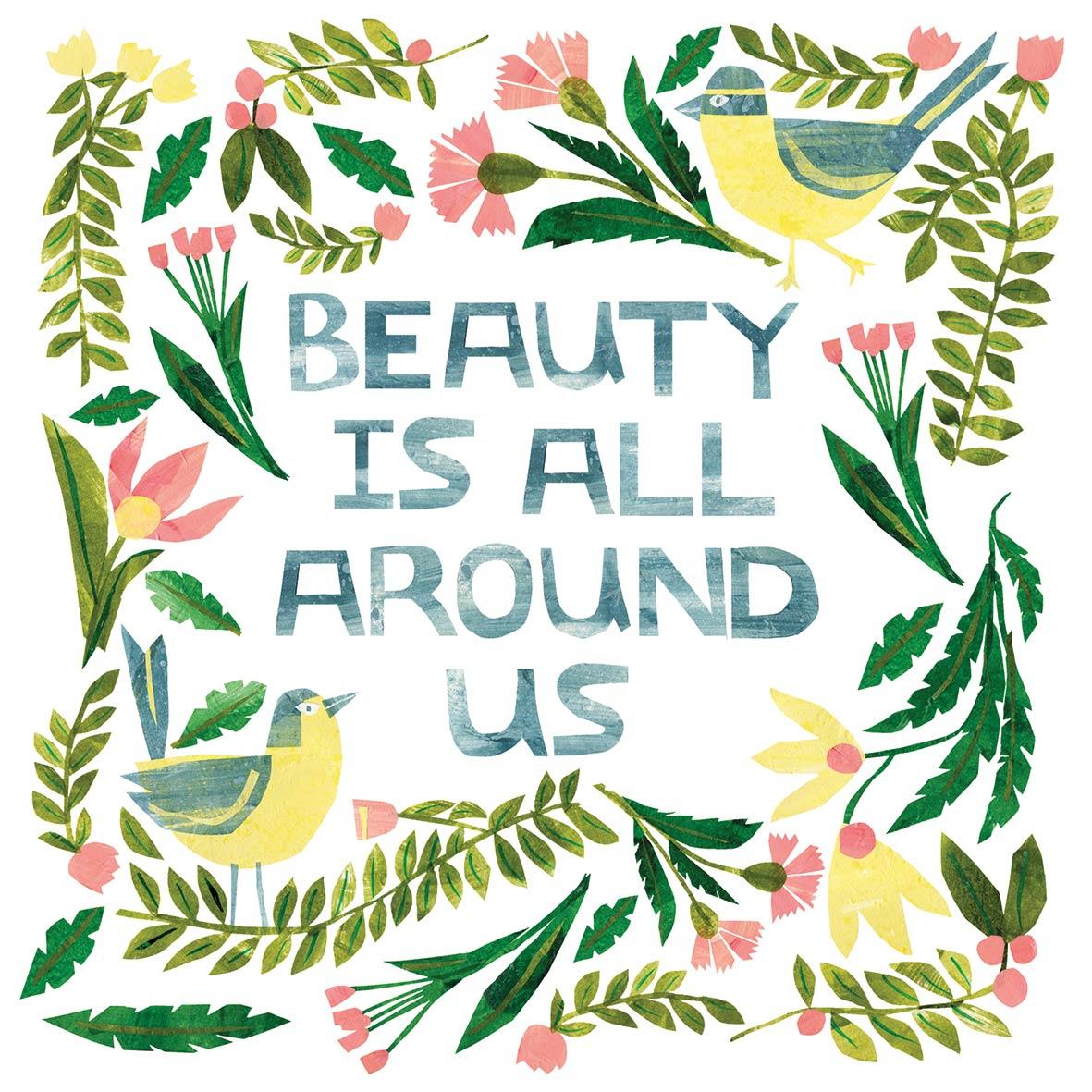 Napkins 25x25 cm - Beauty is around