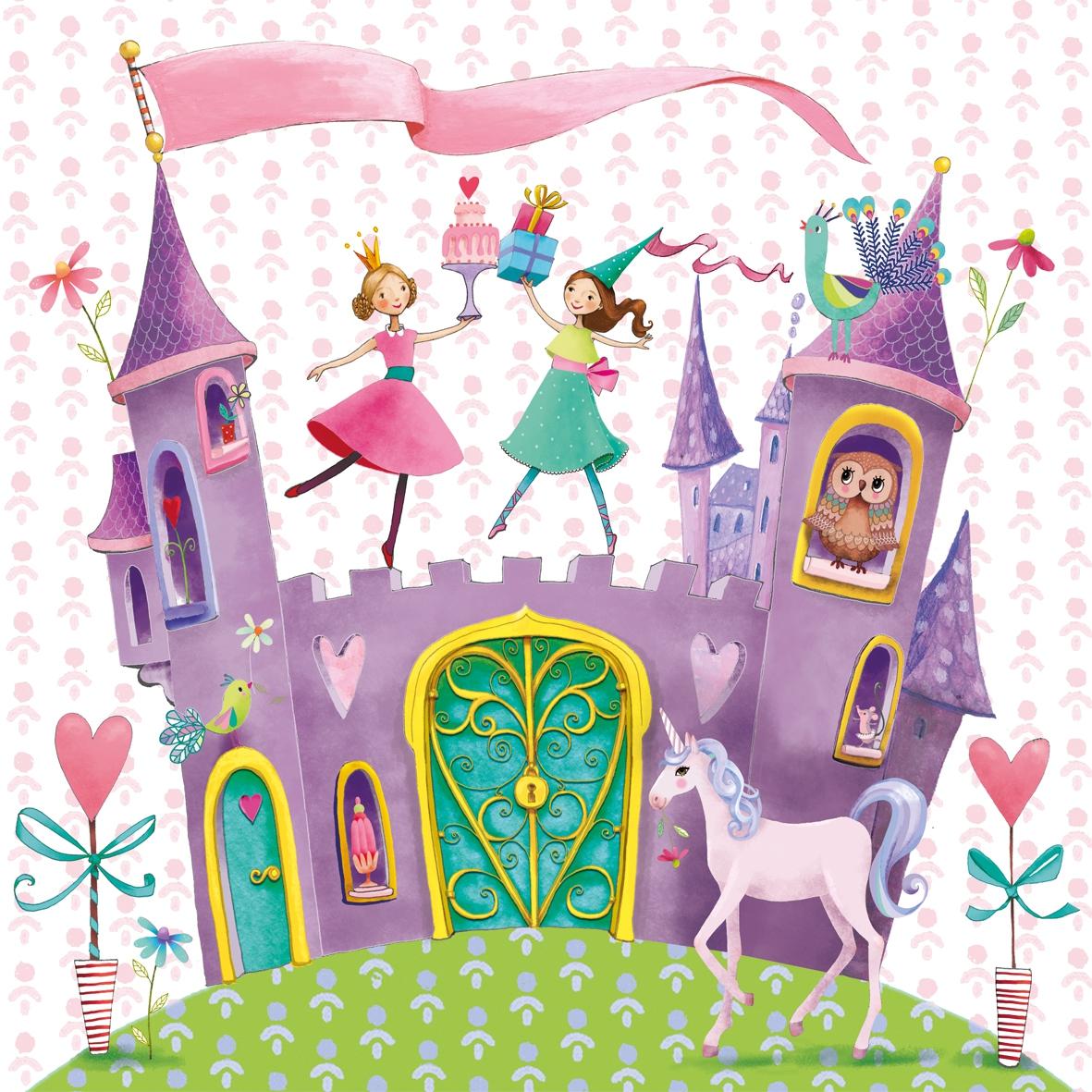 Servilletas 33x33 cm - Princess Castle 33x33cm