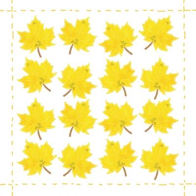Napkins 33x33 cm - Fashion Leaf allover