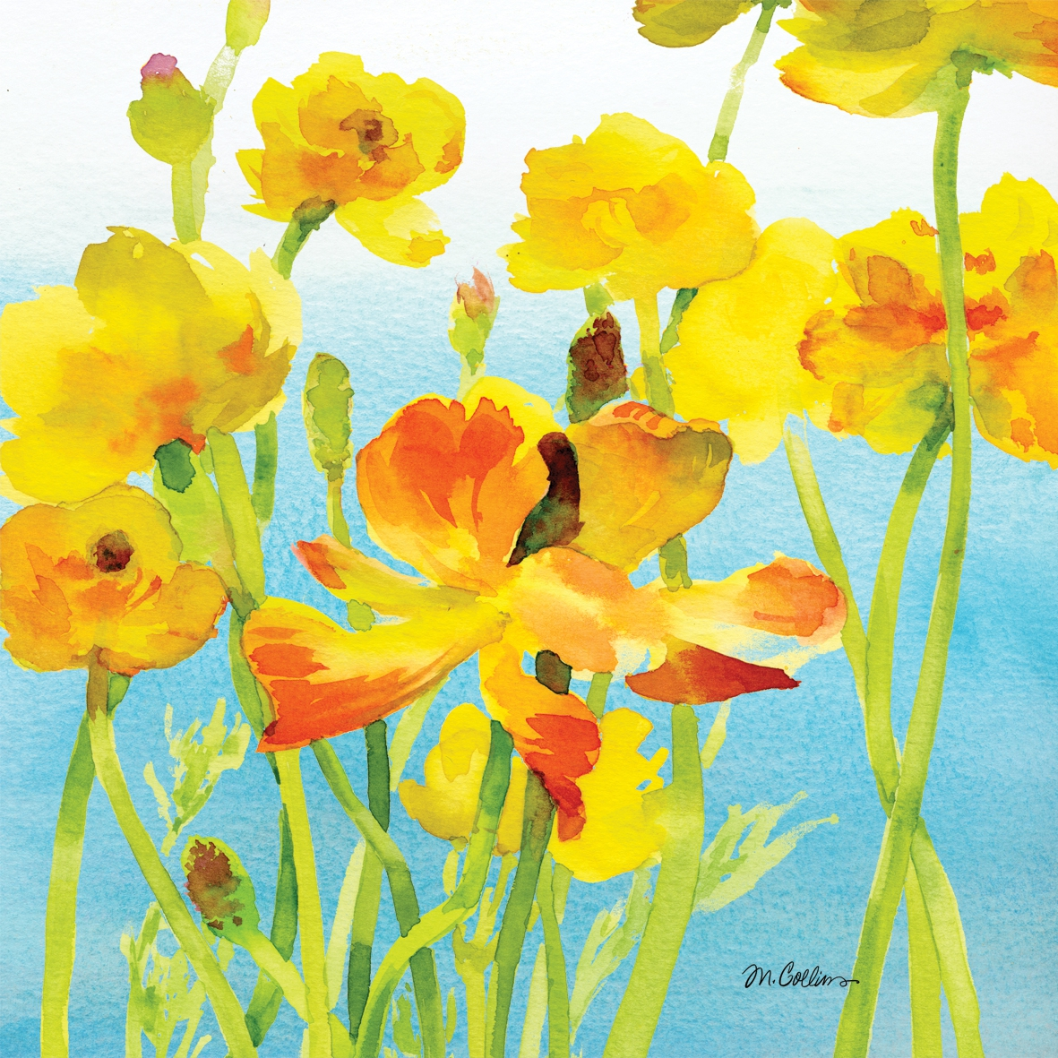 Napkins 33x33 cm - Yellow Buttercups