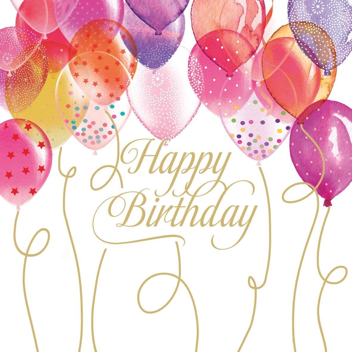 Servilletas 33x33 cm - Birthday Balloons