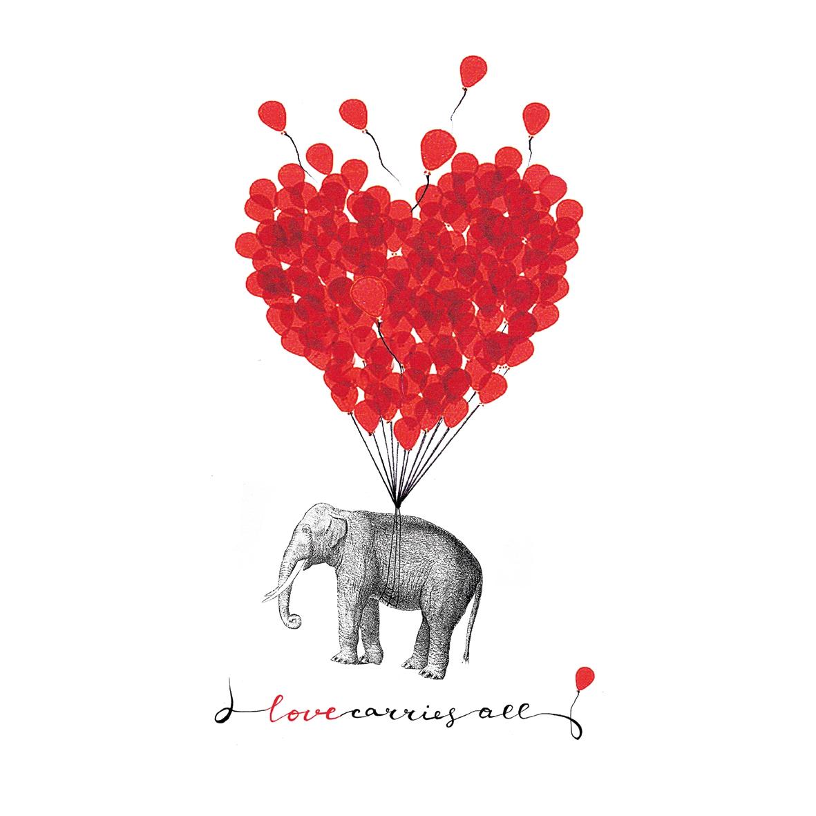 Servilletas 33x33 cm - Love Carries All