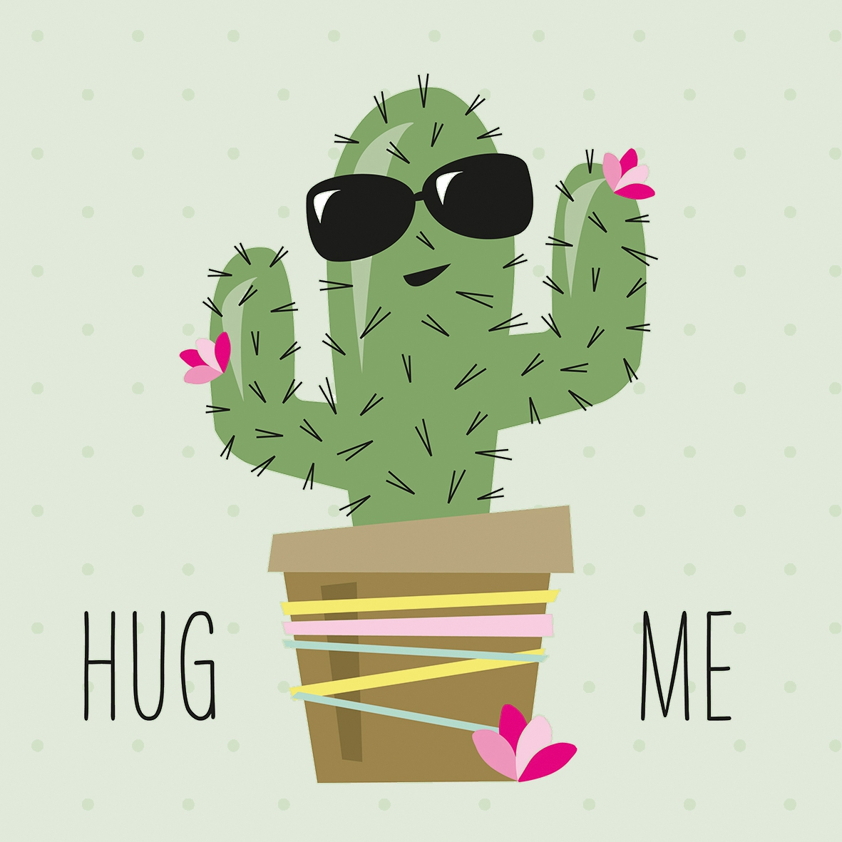 Servilletas 33x33 cm - Hug Me Cactus