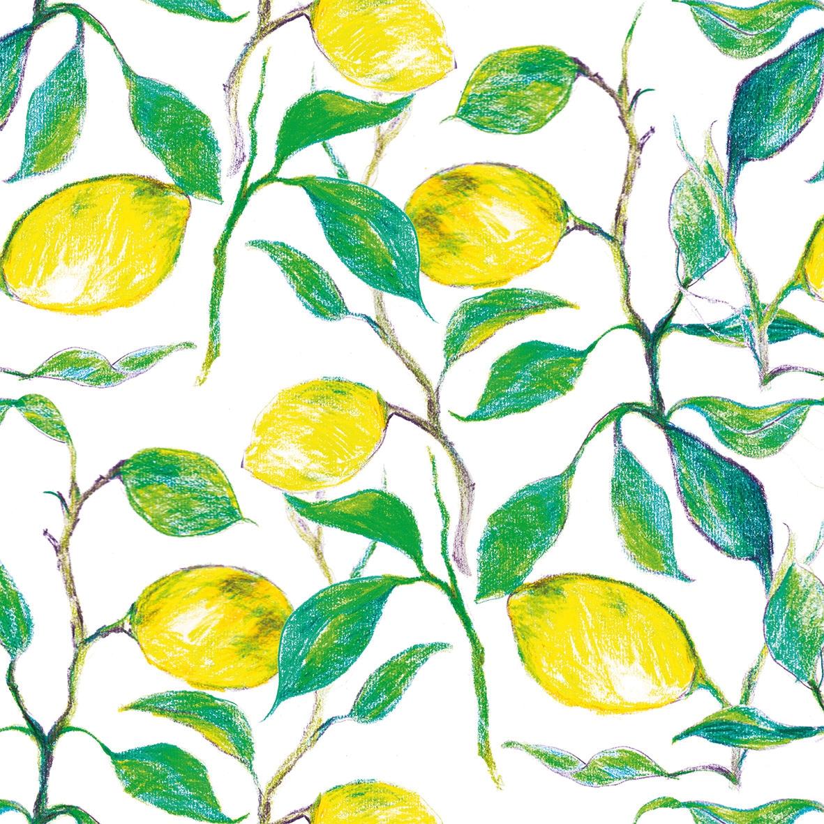 Servilletas 33x33 cm - Beautiful Lemons 33x33 cm