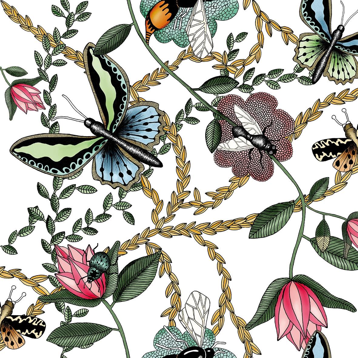Servilletas 33x33 cm - Bugs & Butterflies