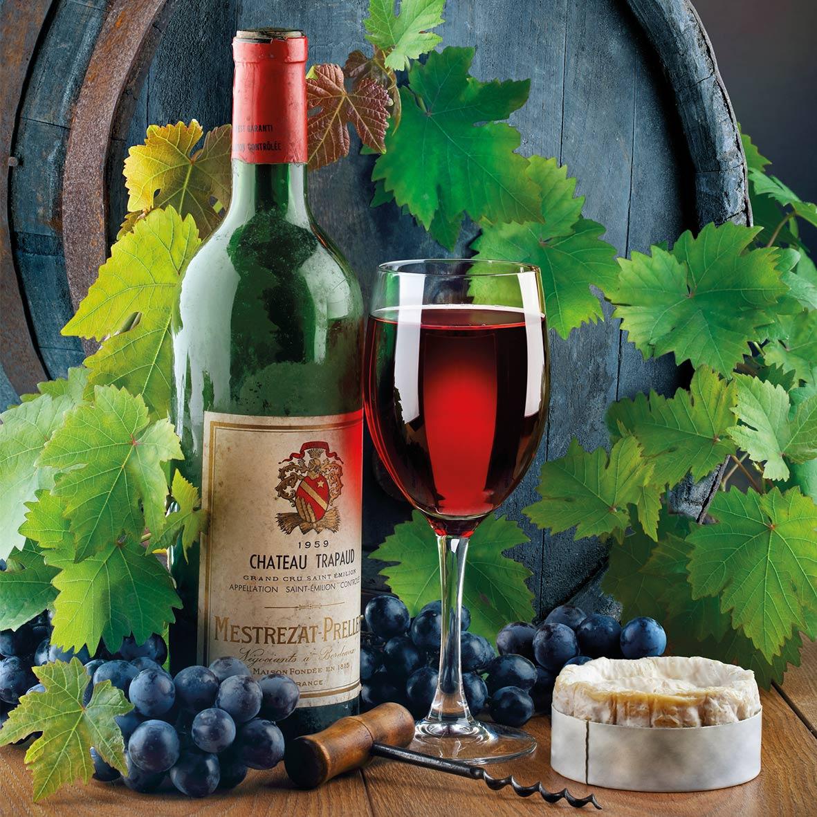 Servilletas 33x33 cm - Wine & Cheese 33x33 cm