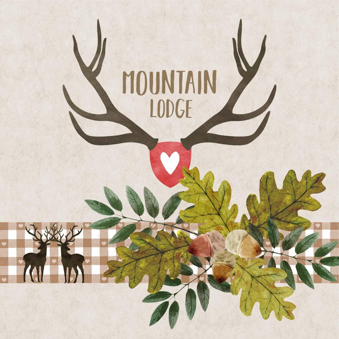 Servilletas 33x33 cm - Mountain Lodge beige