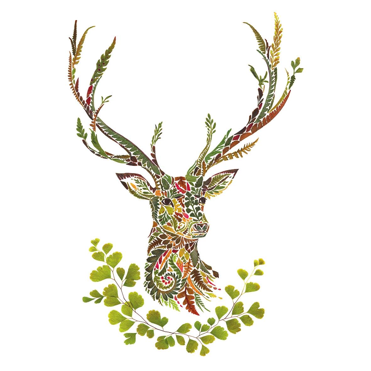 Servilletas 33x33 cm - Green Deer