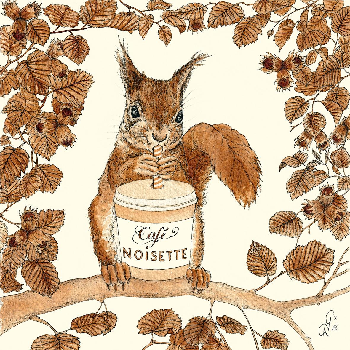 Servilletas 33x33 cm - Café Noisette