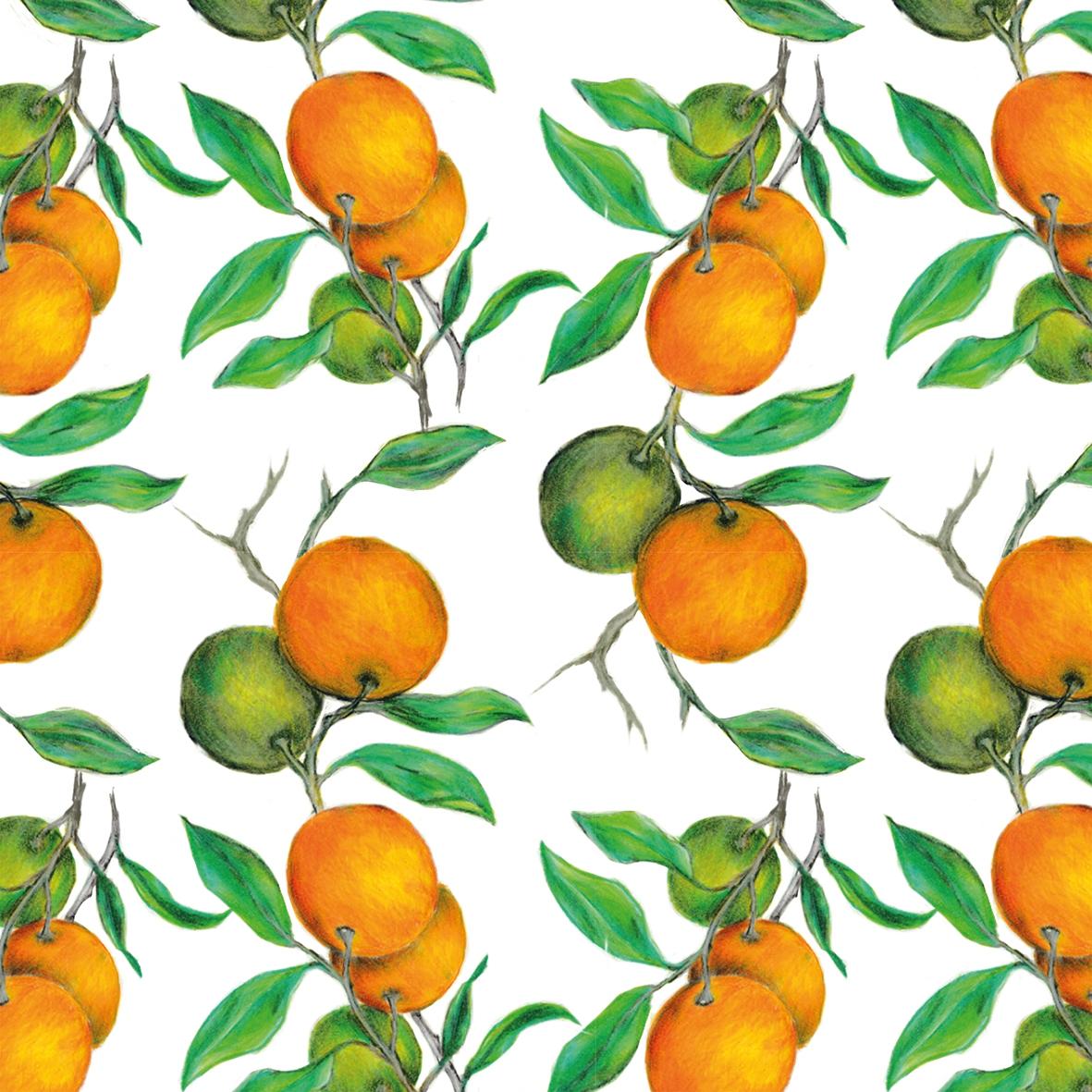 Servietten 33x33 cm - Beautiful Oranges Napkin 33x33