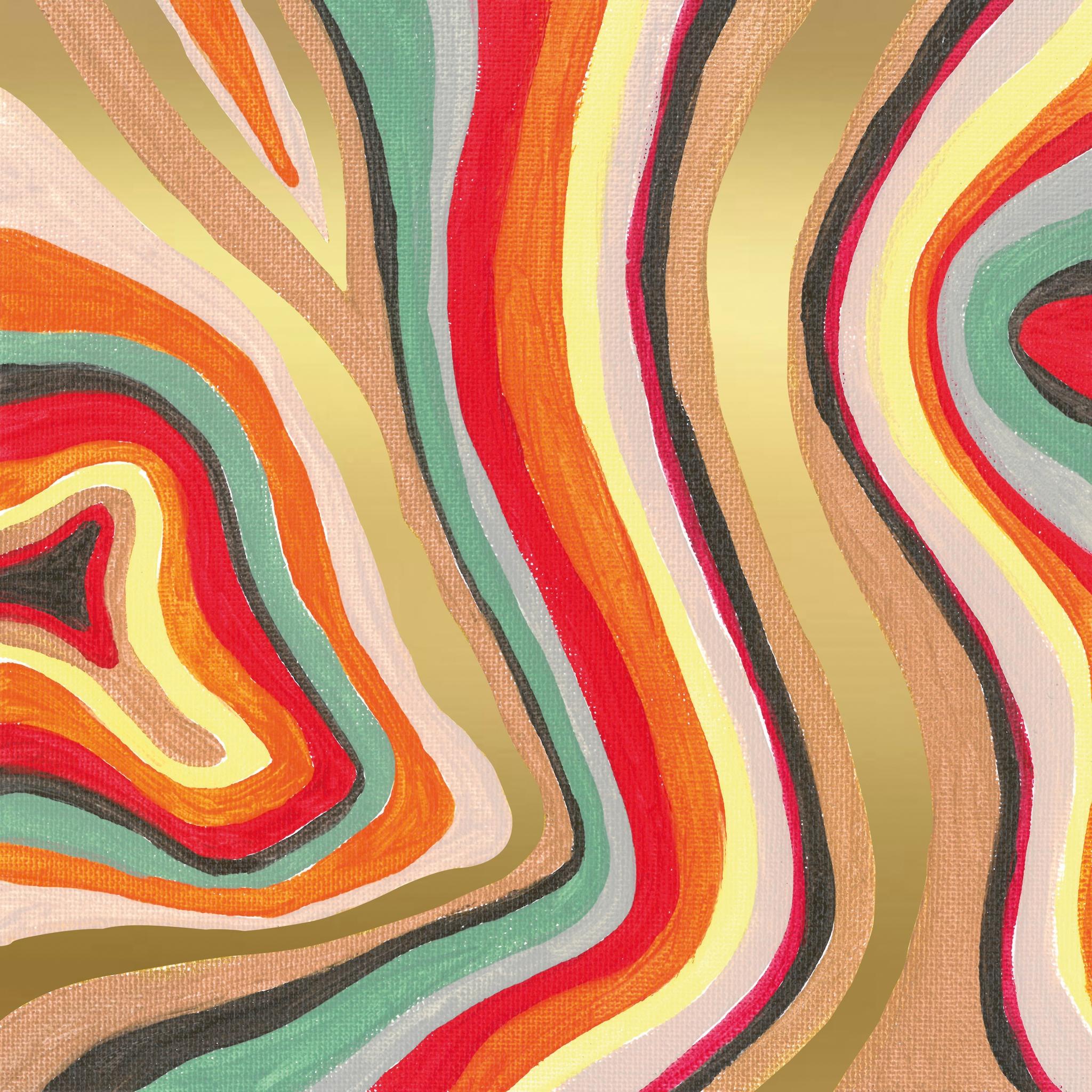 Napkins 33x33 cm - Colourful Stripes